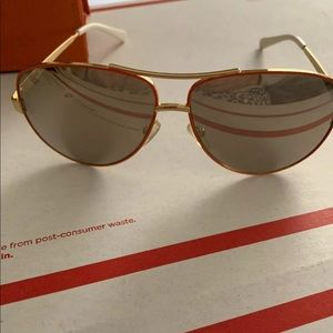 Tory Burch sunglasses orange gold/gold mirror @B4